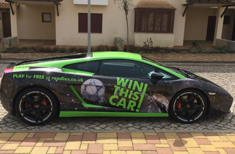 Win a Lamborghini Gallardo with Readies
