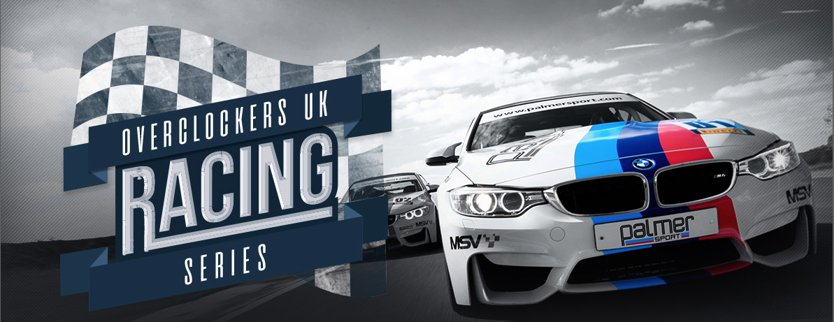 Win a Palmersport day with Overclockers VR race Series