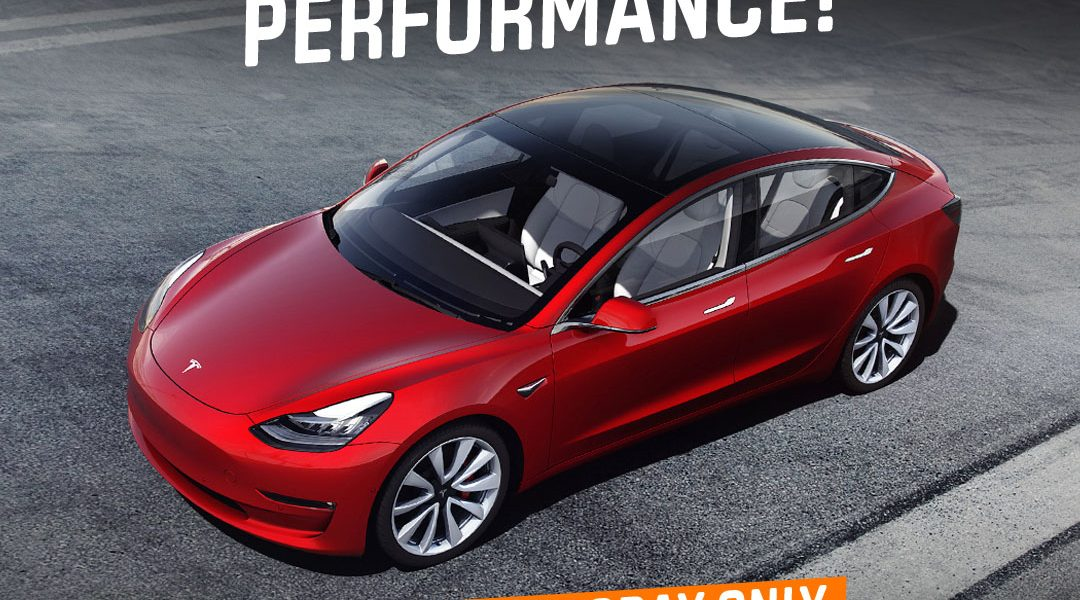 Win a Tesla Model 3 car with 50% off tickets